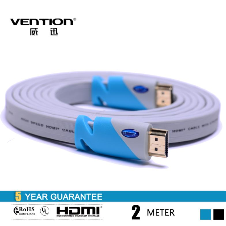 200CM/6FT hdmi cable 2m High Speed HDMI Cable 1.4V 1080P HD w/ Ethernet 3D Ready HDTV Ethernet 10.2Gbps vention(China (Mainland))