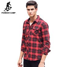 Pioneer Camp Новые случайные рубашки мужчин бренд мужской рубашки случайным высокое качество 100% хлопка с длинным рукавом осень-весна мужские руб...(China (Mainland))