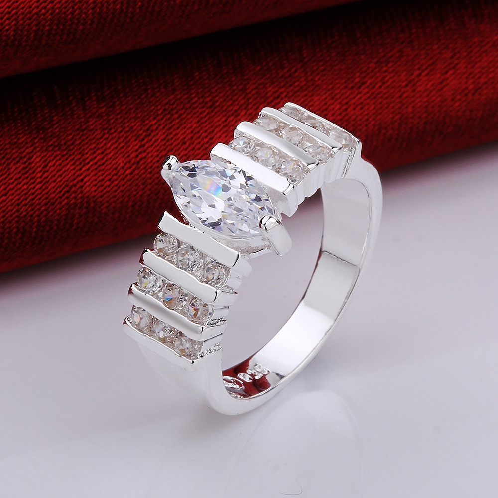15 pieces/lot Top selling wedding Brand Copper Silver jewelry AAA+ Big Crystal Water Drop Ring Women Gift for date(China (Mainland))