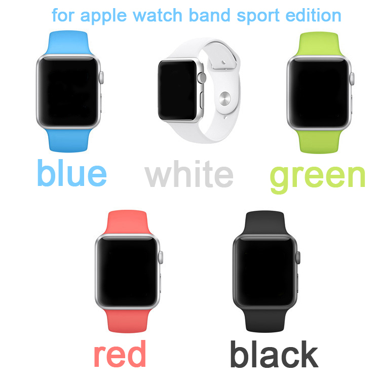 1:1 Original Design Silicone Sport Band With Connector Adapter For Apple Watch 38MM 42MM Strap For iWatch Sports Buckle Bracelet(China (Mainland))