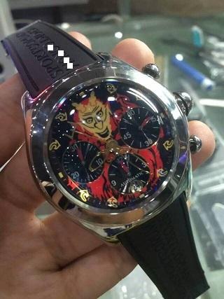 1=1 luxury CR brand JOLLY ROGER JOKER THE COLLECTOR SERIES 46mm art sport watch A7750 automatic chronograph men's watch sapphire(China (Mainland))