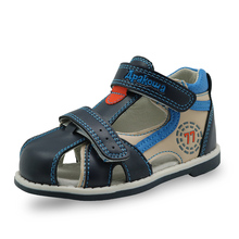 Apakowa Top quality 2017 kids sandals pu leather children shoes breathable flats toddler boys sandals Summer sandal arch support(China (Mainland))