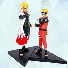2pcs/set 15-17cm PVC japanese anime figures naruto Dolls Naruto Uzumaki Namikaze Minato Action Figure Toy - LIFE Models And Toys store
