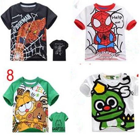 Boys and girls summer t-shirt Spongebob Kids T-shirt cotton new children's cartoon T-shirt Kids clothes