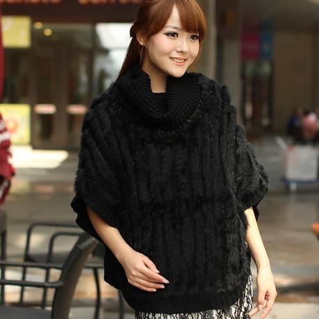 Warm rabbit fur patchworki knitting patchmina, four colors fringed rabbit fur triangular scarf free shipping(China (Mainland))