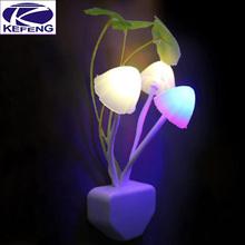 Colorful Light Sensor Sensitive LED Night Light Mushroom Flower Plant Potted night light 220V For home bedroom wall Decoration(China (Mainland))
