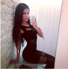 Mini vestido sin mangas del verano, atractivo del club, encaje ahueca hacia fuera los vestidos
