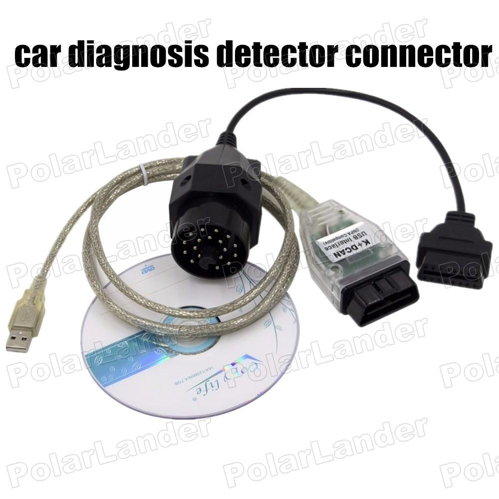 Automotive Diagnostic Cables : Car scanner cable diagnostic adapter connector inpa k dcan