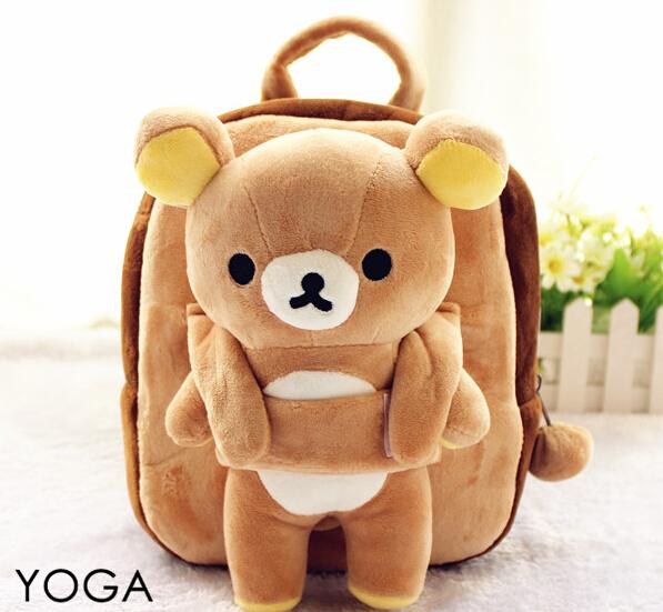 1PC 25cm cartoon funny Rilakkuma bear plush doll backpacks students small shoulder bag Satchel girl toy gift of baby<br><br>Aliexpress
