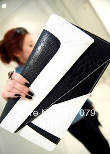 Sell Hot!Lady's handbag autumn and winter fashion serpentine pattern  2013 clutch women's handbag cross-body