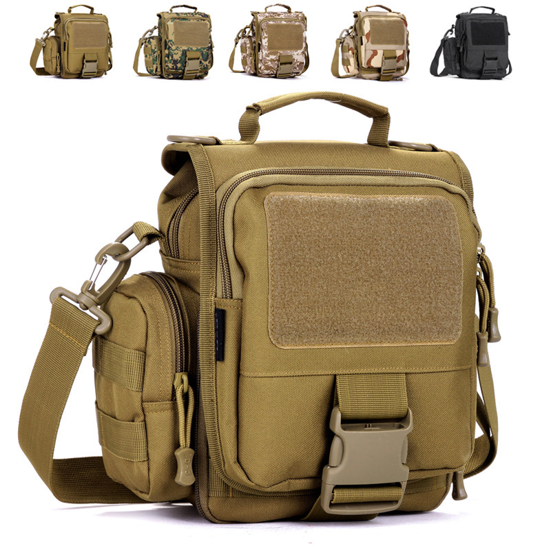 Men outdoor sports clamshell detachable shoulder bag, multifunction nylon camouflage tactical surprise attack 3P Messenger Bags(China (Mainland))