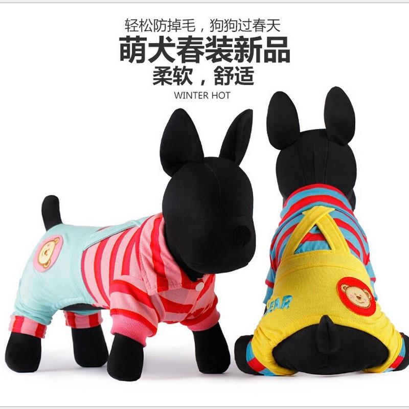 Thomas Bear Bib 2015 spring new Teddy dog clothes pet clothing VIP puppy(China (Mainland))