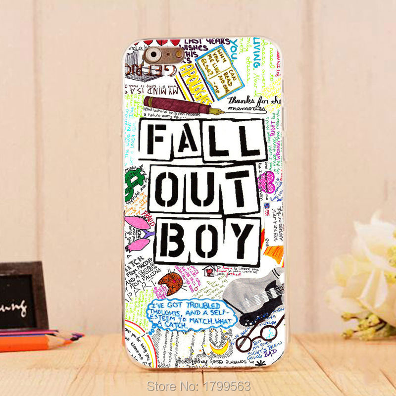 hot Fall Out Boy Quotes colorful Soft Silicon clear TPU Skin case for font b iphone6