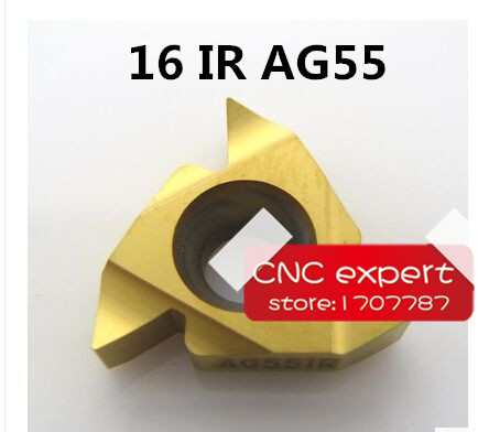 16IR AG55 Tungsten Carbide Threading Lathe Inserts Tungsten Carbide Threading Inserts 55 degree External Threading Inserts