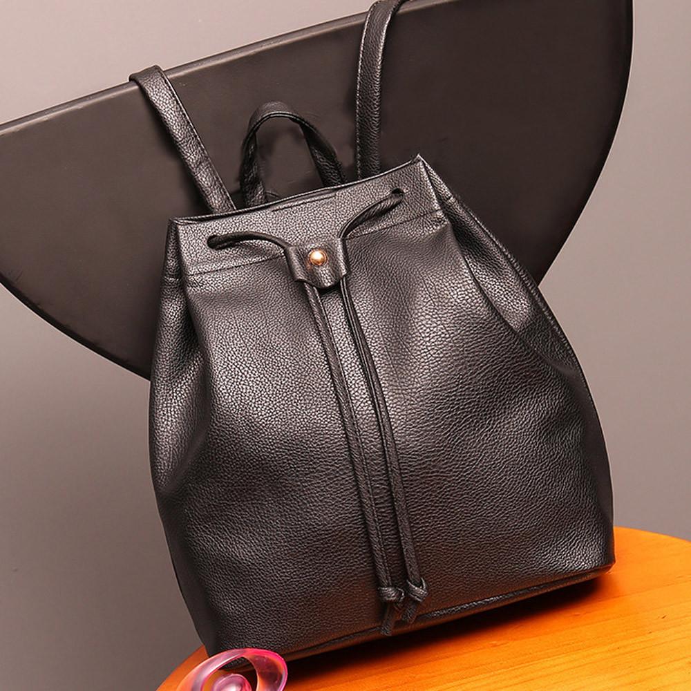 Women Bag Fashion Drawstring Satchel For School Bag Backpack Ladies Bucket Bag Travel Softback High Quality Mochila Feminina(China (Mainland))