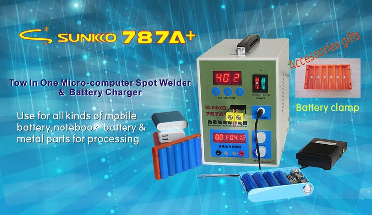 Free shipping by DHL POWER 787A+ MCU Spot Welder Battery Welder Applicable Notebook and Phone Battery Precision Welding Pedal