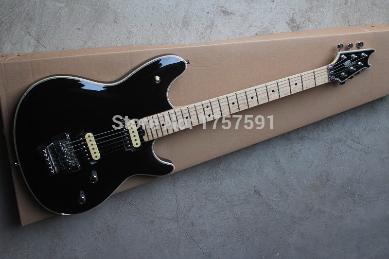 Free shipping Hot Selling Custom Shop Wholesale black EVH Wolfgang stealth style model electric guitar(China (Mainland))