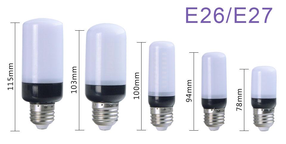 E12 E26 E27 LED Diode lamp (9)