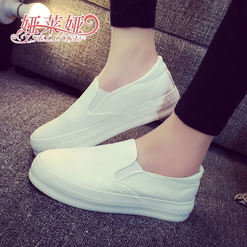 Spring canvas shoes women female platform shoes breathable girls ladies trainers students shoes 224