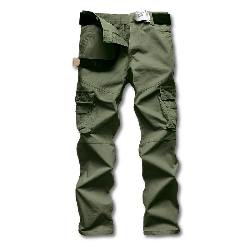 Europe Large Size Outdoor Mens Cotton Combat Multi-Pockets Casual Loose Long Full Length Cargo Pants Work Trousers CamouflageОдежда и ак�е��уары<br><br><br>Aliexpress