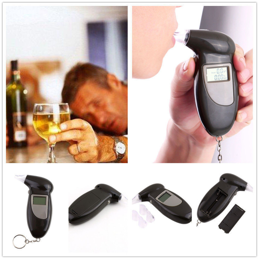 Smart Breath Alcohol Tester LCD Digital Breathalyzer Analyser Detector Test Keychain Tools For Car Auto Safety(China (Mainland))