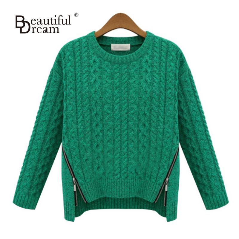 Зеленый женский свитер