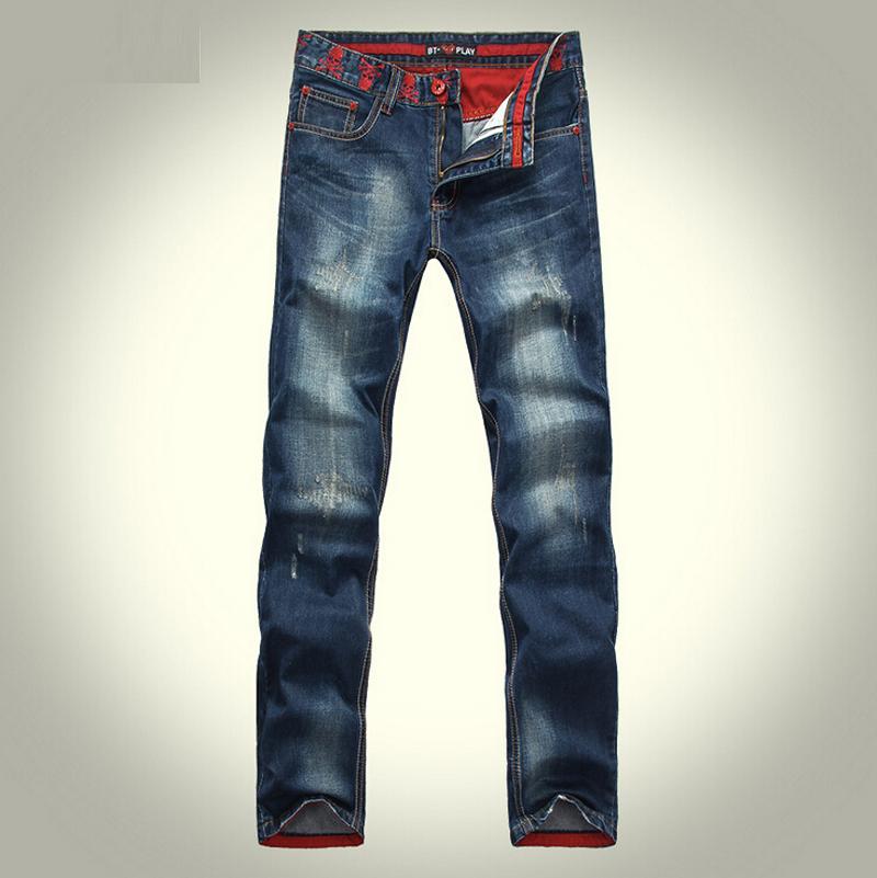 2015 Comme Des Garcons Cdg Bermain Jins Laki Laki Celana Jeans Celana Denim Lubang Skinny