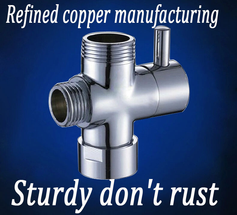 2015 Sale Refined Copper Sturdy Don't Rust Bathroom Faucet Accessories Manifold Shower Water Segregator Sub-valve Switch Valve(China (Mainland))