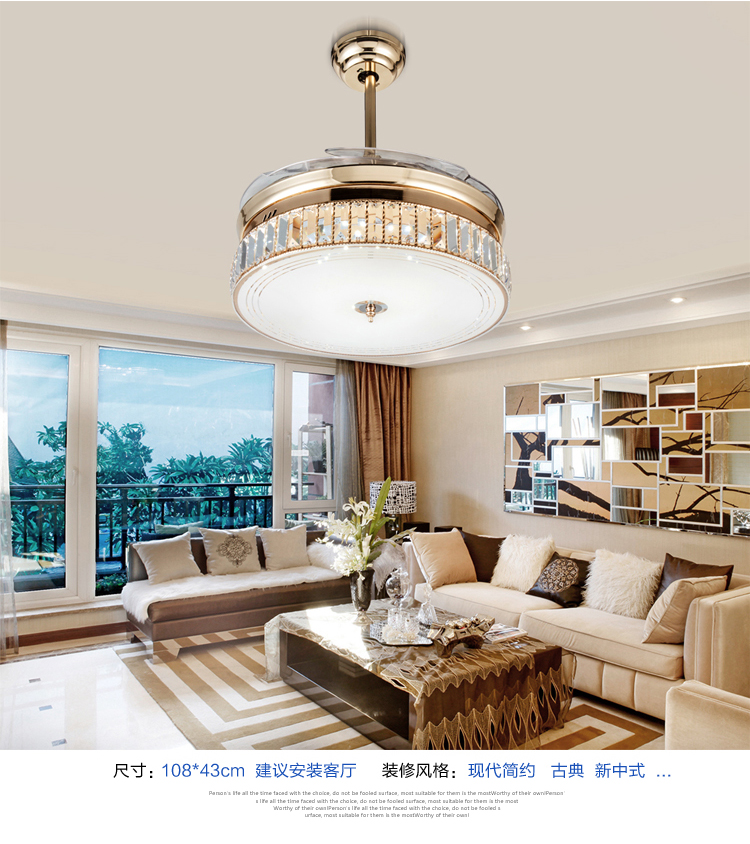 Online buy wholesale folding ceiling fan from china for Bedroom ceiling fans with lights