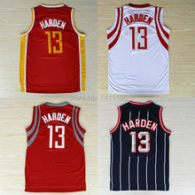 New Houston #13 James Harden Basketball jersey Red, White, Retro Red And Retro Blue Stripes Jersey
