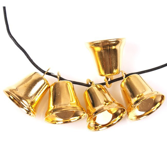 Free Shipping 120pcs/lot Retail Fashion Antique Golden Bell Charms Fit European Christmas Decor DIY 14*14*17mm 270364(China (Mainland))