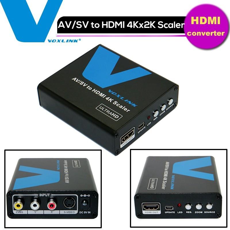 1080P Composite AV RCA/S-Video to HDMI 4K *2k Scaler Video &amp; Audio Converter Adapter Box for DVD HDTV<br><br>Aliexpress