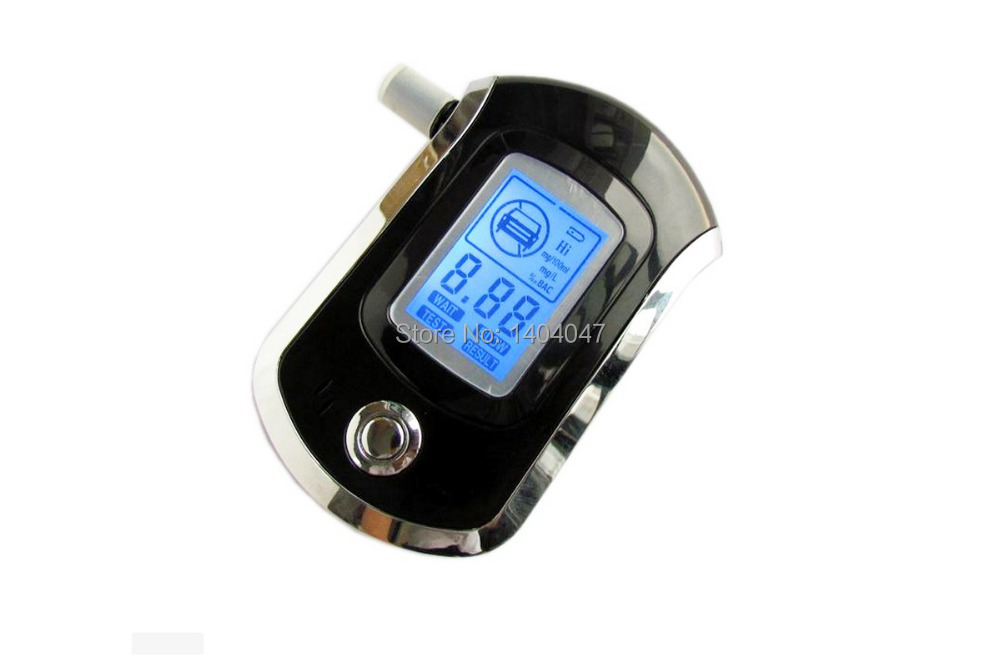 Brand New AT6000 Digital Professional Alcohol Tester LCD Display Breath Alcohol Meter Breathalyzer(China (Mainland))