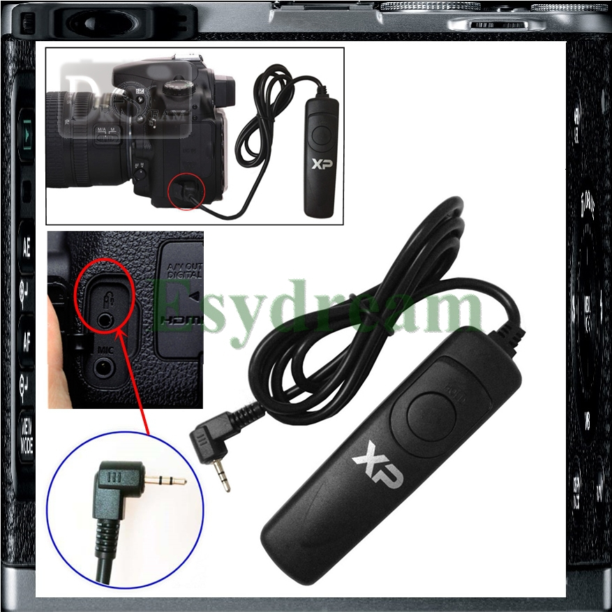 Remote Control Shutter Release Cable As RS-60E3 For Canon 700D 650D 600D 550D100D 60D 70D 1200D G1X G1XII G15 T4i T3i X5 X6(China (Mainland))