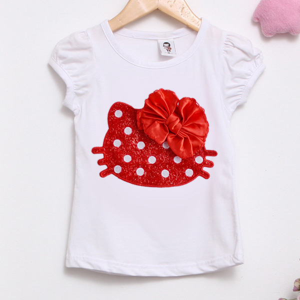 clear stock high quality girls clothes girl t shirt kids b2w2 brand 3d flower tops tees free shipping(China (Mainland))