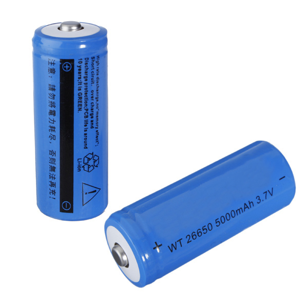 Excellent quality 5000mAh 3.7V 26650 Rechargeable Li-lithium Battery For Flashlight Torch Lamp(China (Mainland))