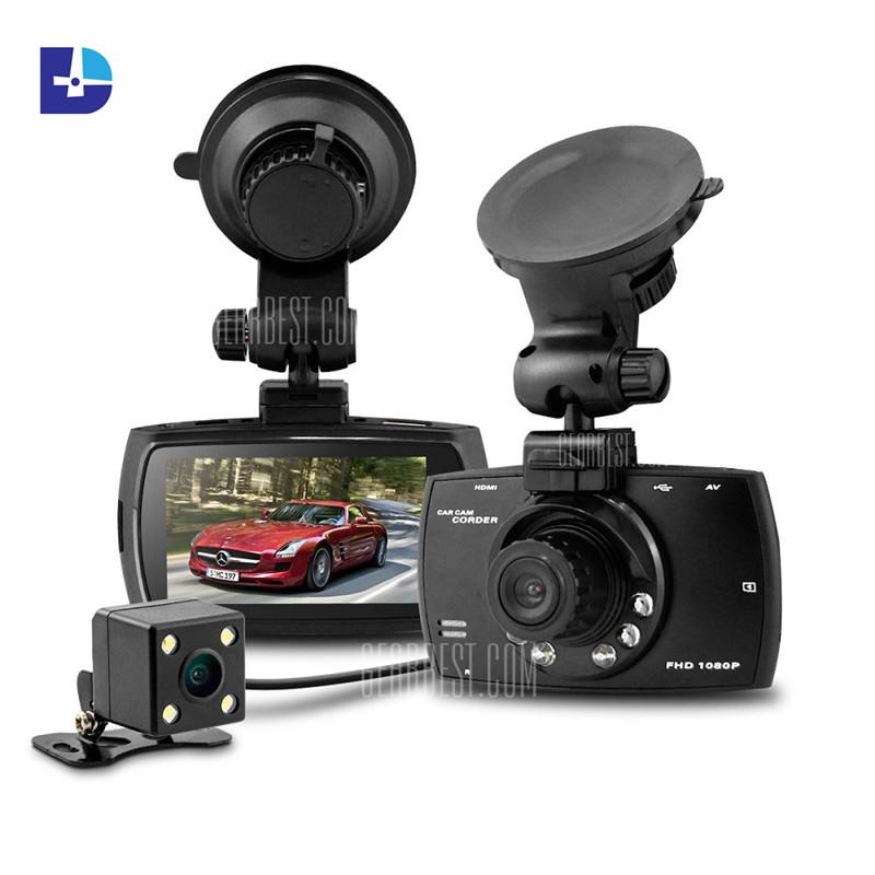 New G30B GT300 Dual Lens Car DVR Front Camera Full HD Car Camera Recorder 1080P External Rear Camera 720P Dash Cam car camera(China (Mainland))