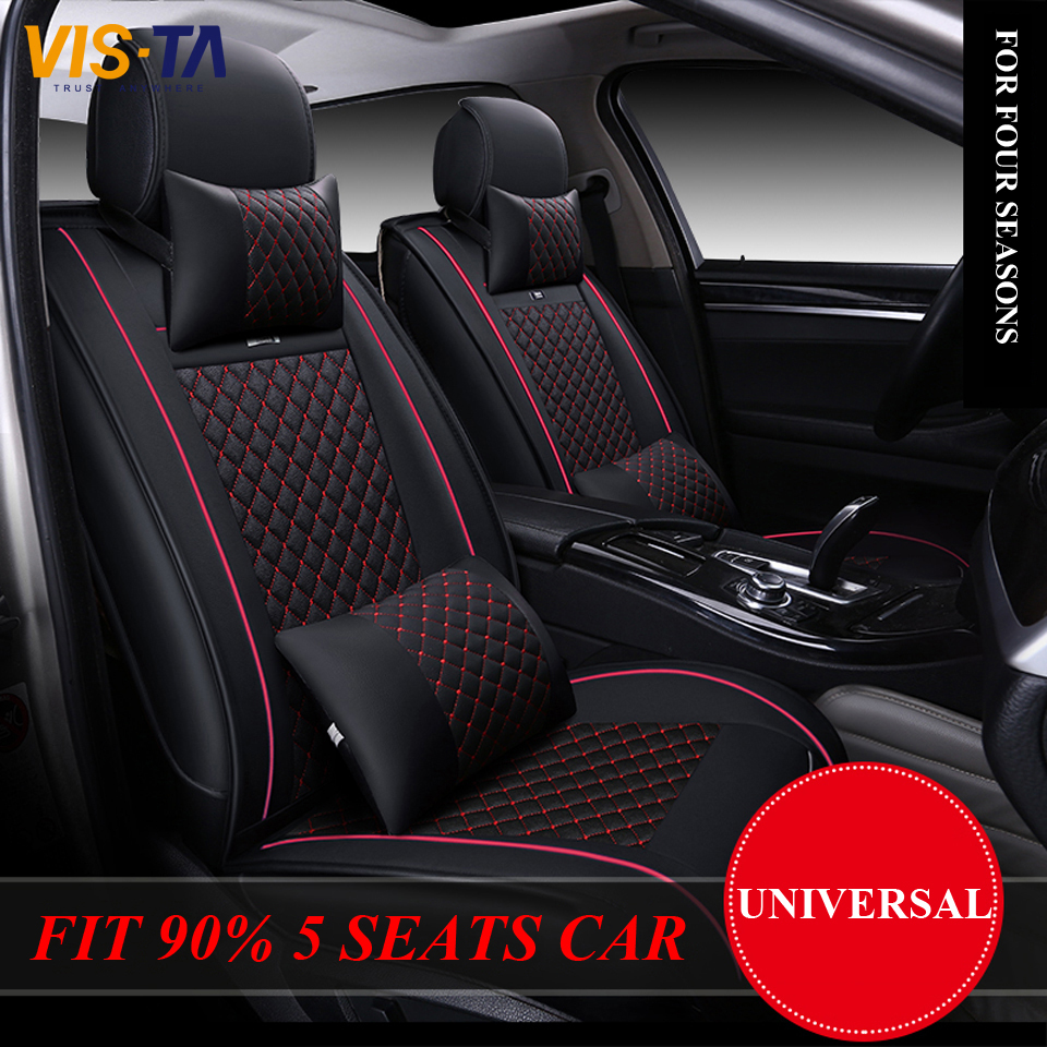 Top Quality Luxury Leather Car Cushion Seat Covers Front & Rear Complete Set Universal for Cruze Lavida Focus Benz BMW Mazda Kia(China (Mainland))