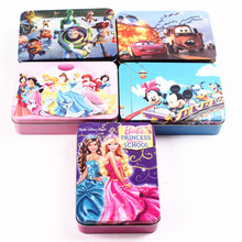 Cartoon 100-piece Paper Jigsaw Puzzle Classic Kids Educational Puzzles Toy for Children Iron Box Packing(China (Mainland))