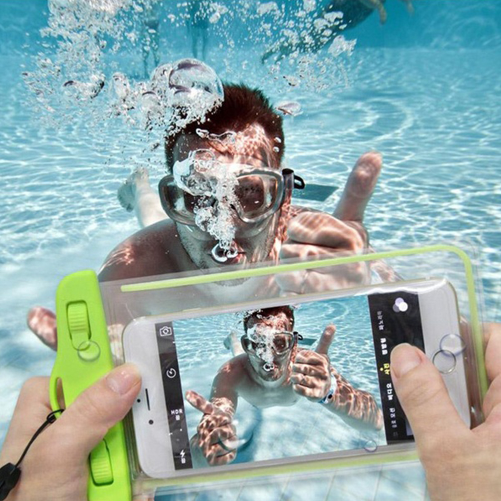 1PCS Clear Waterproof Pouch Dry Case Cover For Camera Mobile phone Luminous Waterproof Bags for IPHONE 4 4S 5 5S 6 6S PLUS(China (Mainland))