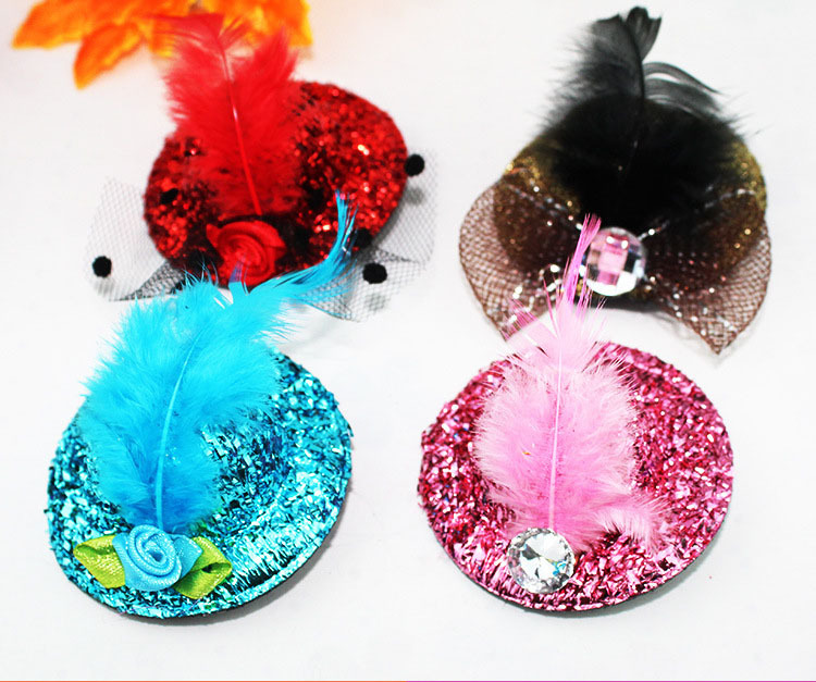 Wholesale girl mini top hats hair clip Nifty  children party hat  Hairpin  120pcs/lot Free ShippingОдежда и ак�е��уары<br><br><br>Aliexpress