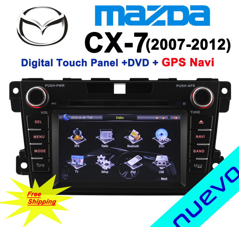 CX7 Mazda Car DVD GPS Navigation with Bluetooth Radio ATV USB SD Canbus Free map Free shipping(China (Mainland))