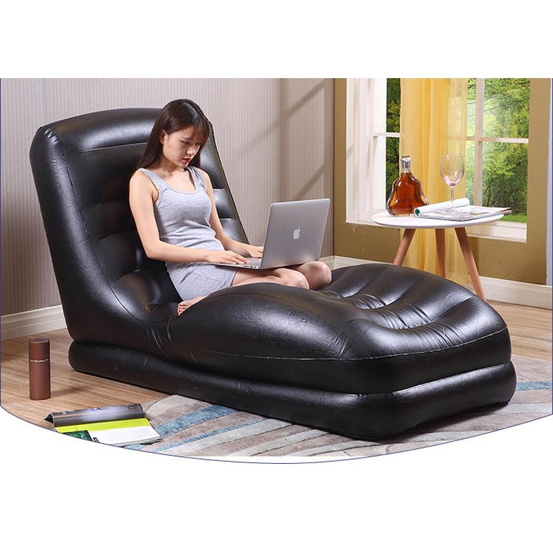 Achetez en gros noir gonflable chaise en ligne des for Chaise gonflable