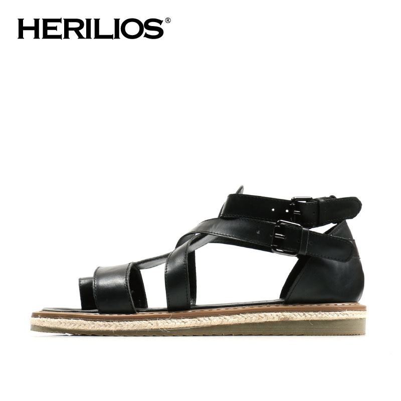 2016 Summer Herilios Men Dex Leather Strap Casual Sandals