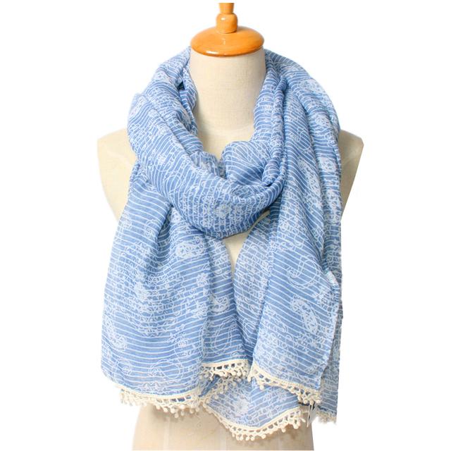 2016 новое поступление зима мода дизайна женщин бренд ретро японской и корейской кешью кистями шарф шали