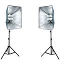 Photography Studio Soft Box Continuous Lighting Kits E27 4 Socket Head Softbox 2 Light Stand 2