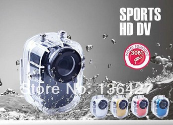 Free Shipping Mini 140 Degree Full HD 1080P Waterproof Sports DV DVR Camera(China (Mainland))