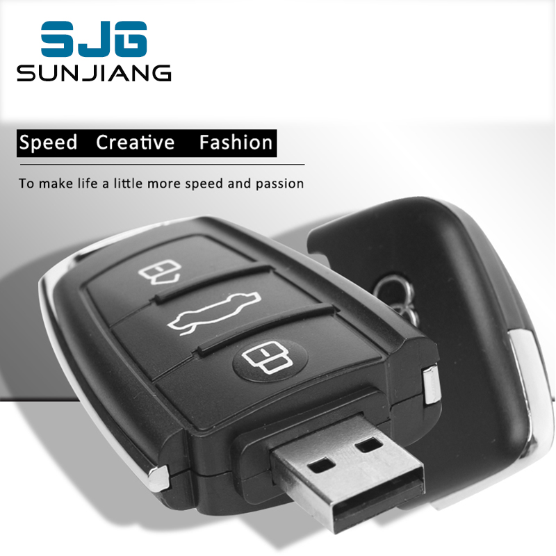 Audi Car Key USB Flash Drive 8GB 16G 32G 64GB Real CapacityMemory Stick Pen Drive U Disk for Popular Gift Pendrive Free Shipping(China (Mainland))
