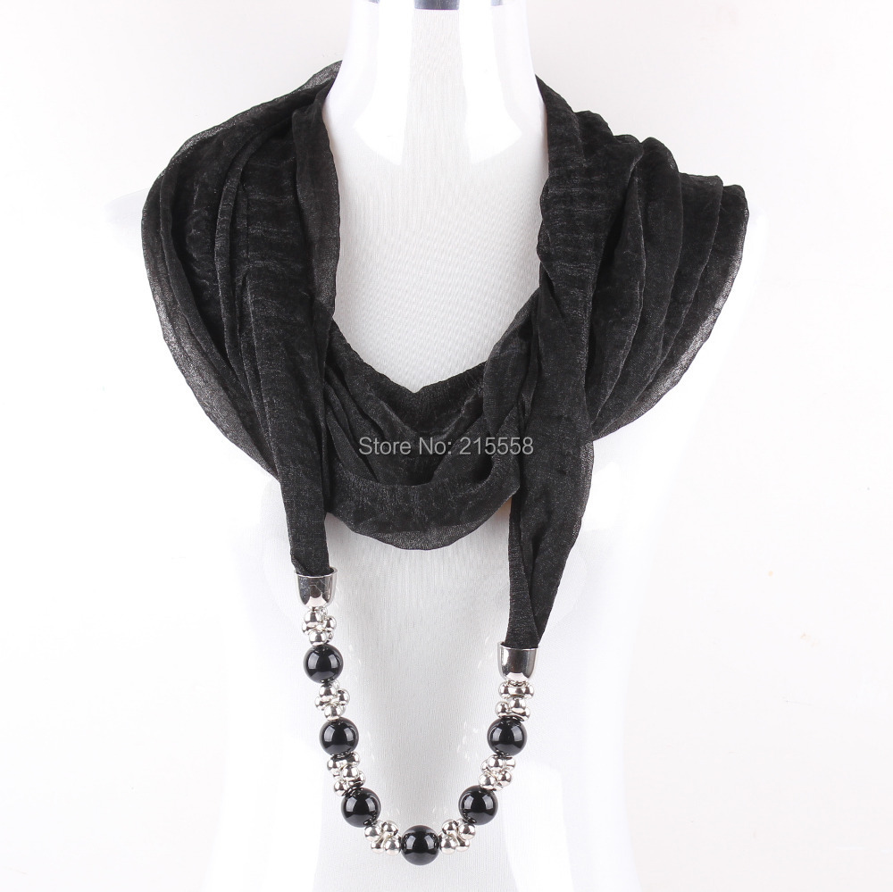 Women Scarf Pendant Beads Jewelry Scarves Necklace Collar Scarves Wholesale JJAL ZS32Одежда и ак�е��уары<br><br><br>Aliexpress