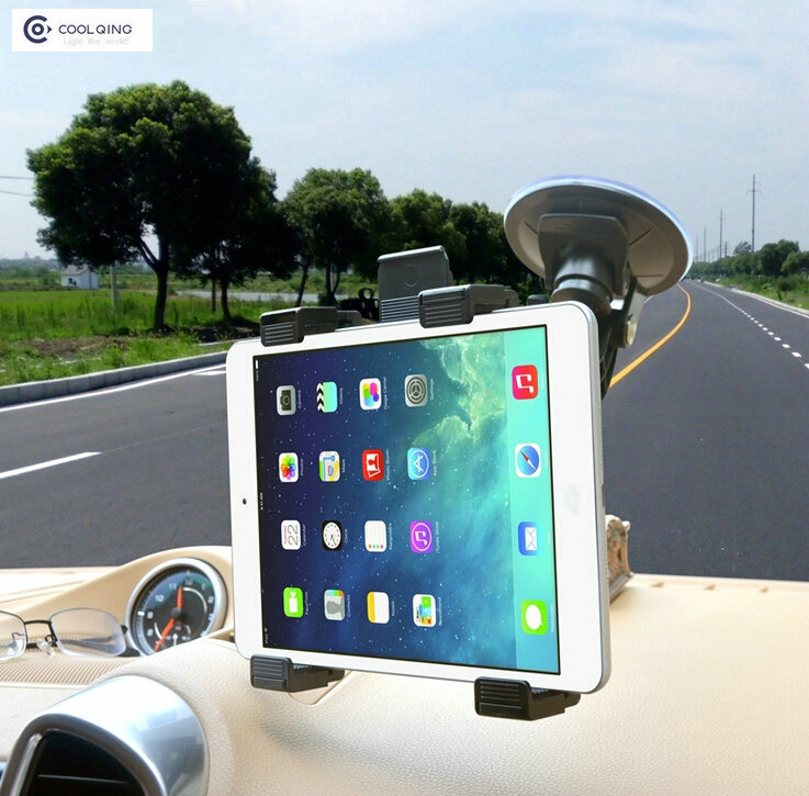 """Universal 7""""-10"""" Car Cradle Bracket Windshield Stand for iPad Air 2 Mini4 Tablet PC Holder 360 Rotating Support GPS/DVD(China (Mainland))"""